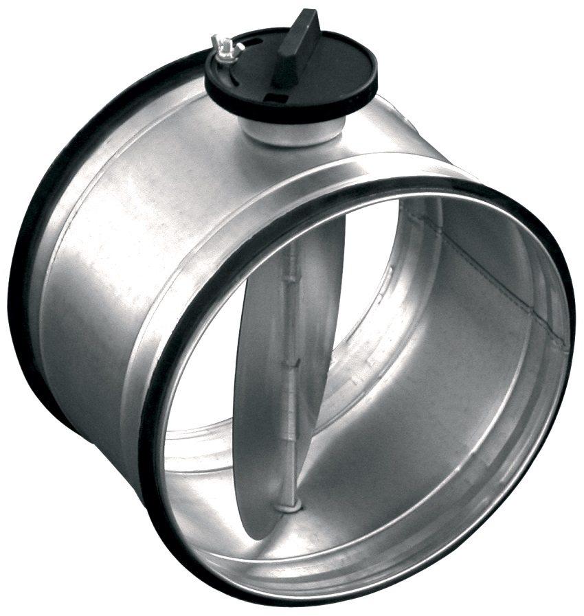 Обратный клапан круглого сечения из оцинкованной стали