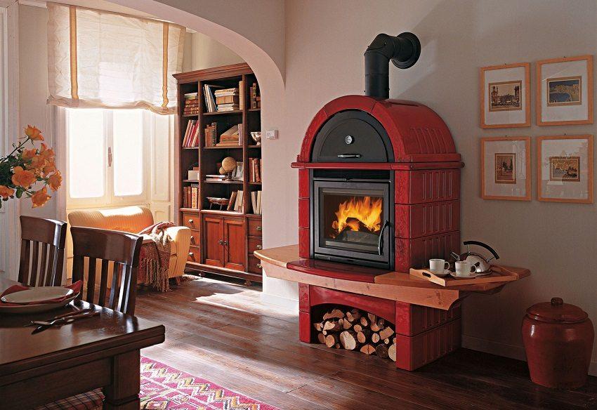 Современные отопительные печи с варочной поверхностью или духовкой выглядят стильно и замечательно вписываются в любой интерьер