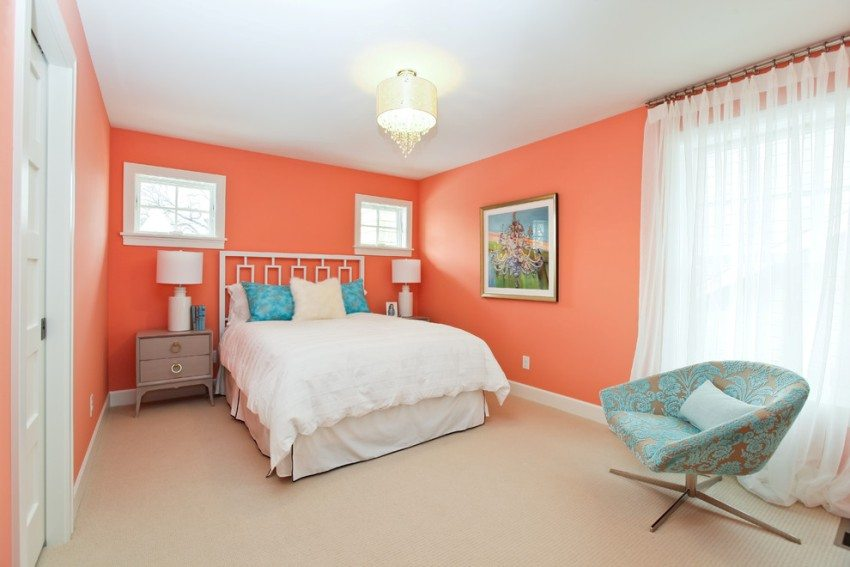 for Blue and peach bedroom ideas