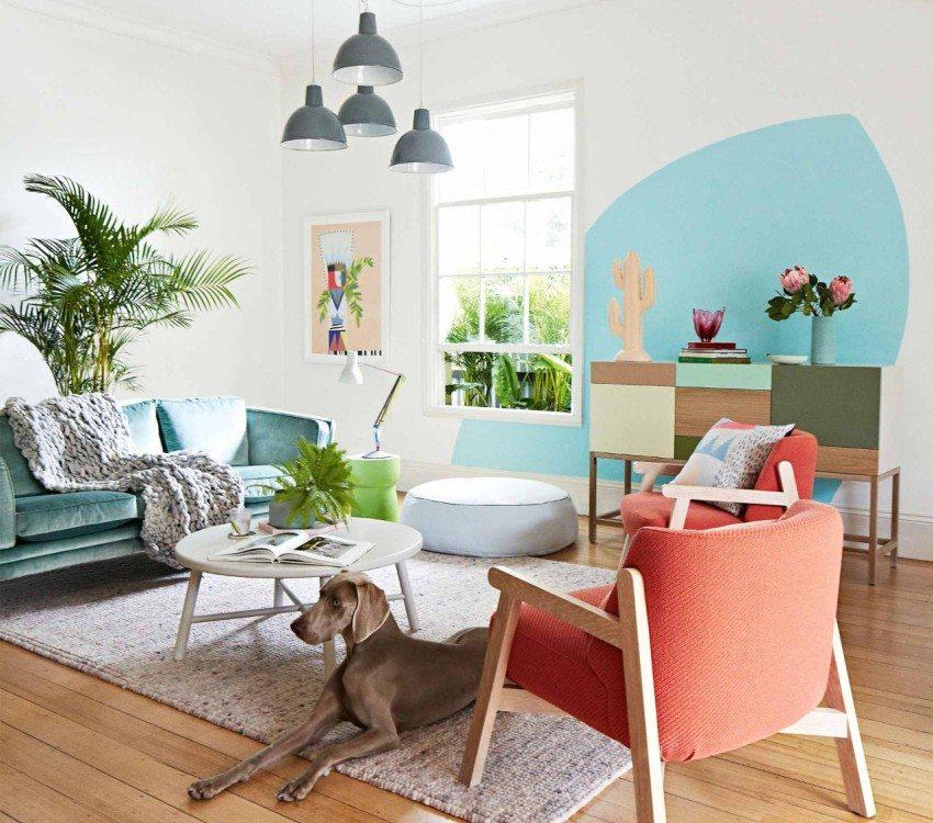 Светлые пастельные оттенки зрительно увеличивают пространство комнаты
