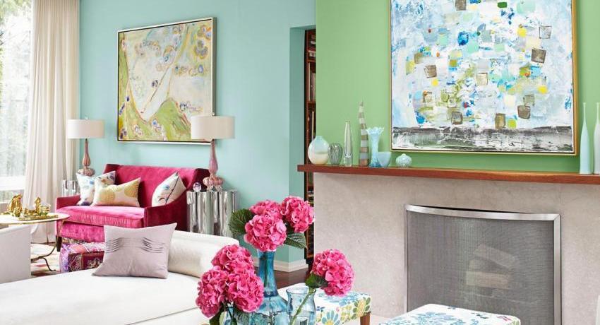 Покраска стен в квартире: фото примеров, модные тенденции, советы профессионалов