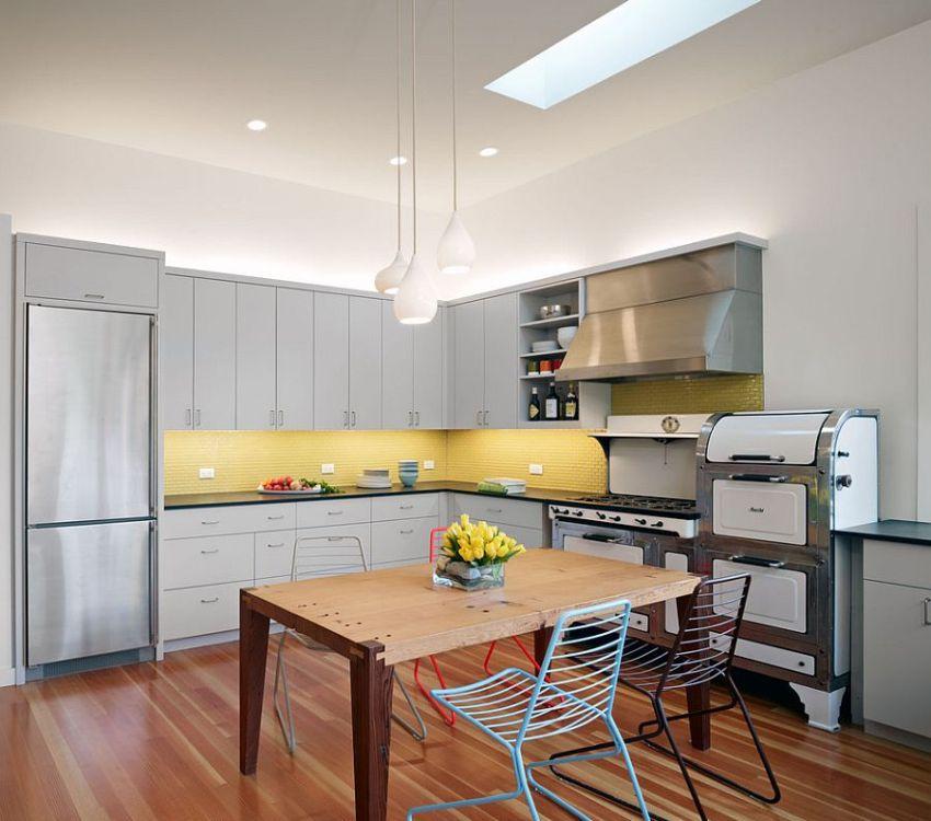 Подвесной потолок или листов ГКЛ на кухне