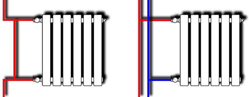 Принцип подключения радиаторов при одно- и двухтрубной разводке системы отопления