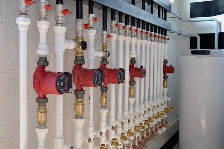 гидравлические контуры, снижают потери, увеличивают проходимость, распределяют тепловую нагрузку в многоконтурной системе отопления