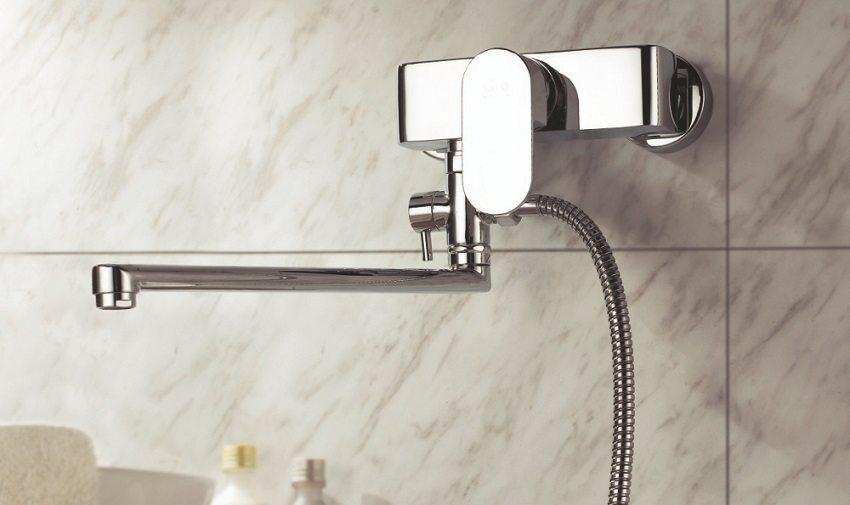 Смеситель для ванны с длинным изливом Gro Welle Mandarin MDR722