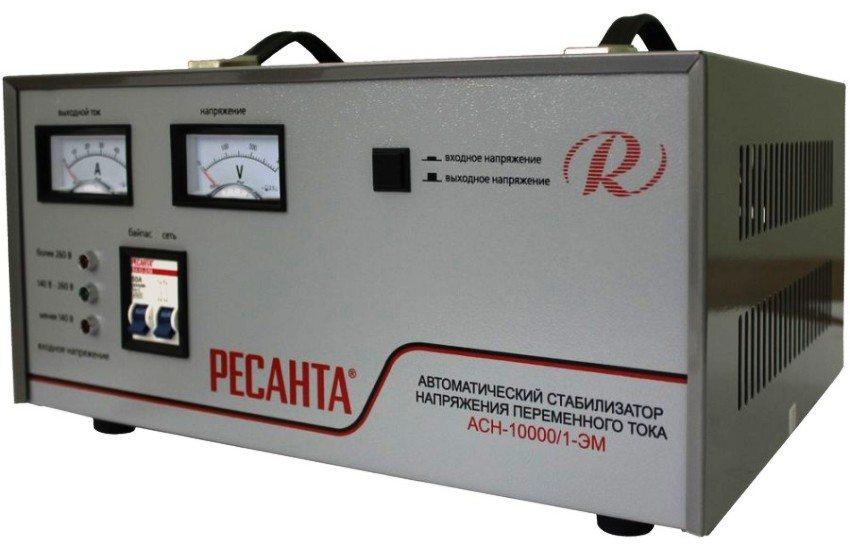 Автоматический стабилизатор напряжения переменного тока Ресанта АСН-10000/1-ЭМ