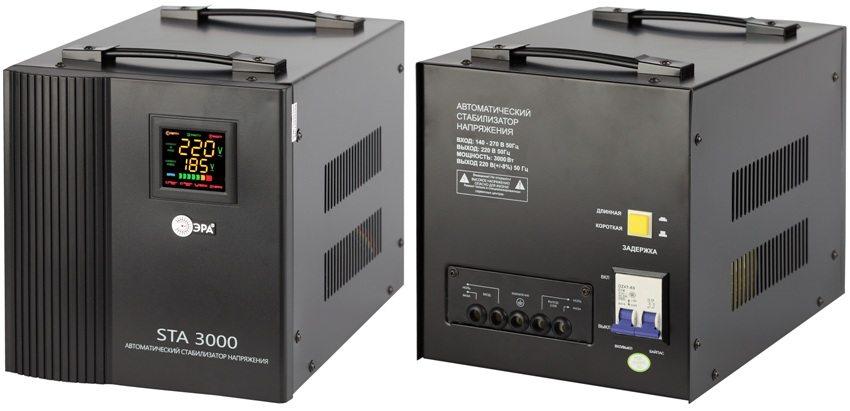 Релейный однофазный стабилизатор напряжения ЭРА STA 3000