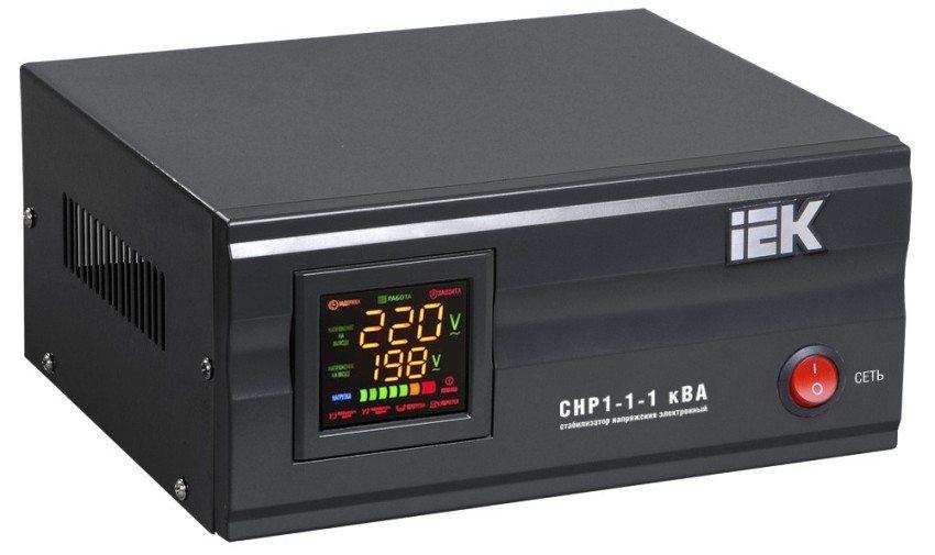 Электронный (релейный) стабилизатор напряжения IEK CHP1-1-1 кВА