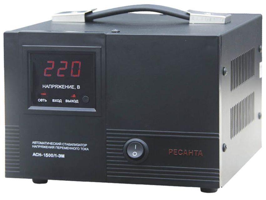 Электромеханический напольный стабилизатор напряжения Ресанта АСН-1500/1-ЭМ