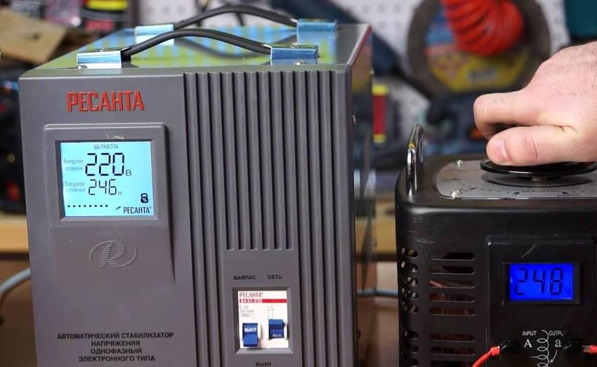 Ремонт стабилизатора напряжения Ресанта заключается в замене или восстановлении двигателя