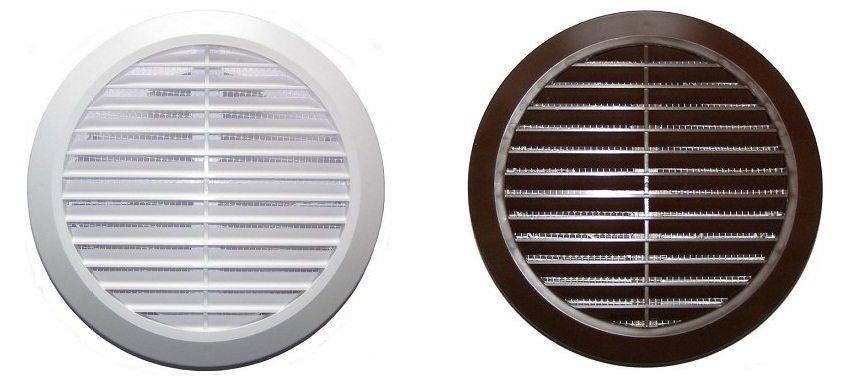 Вентиляционные решетки для круглых воздуховодов