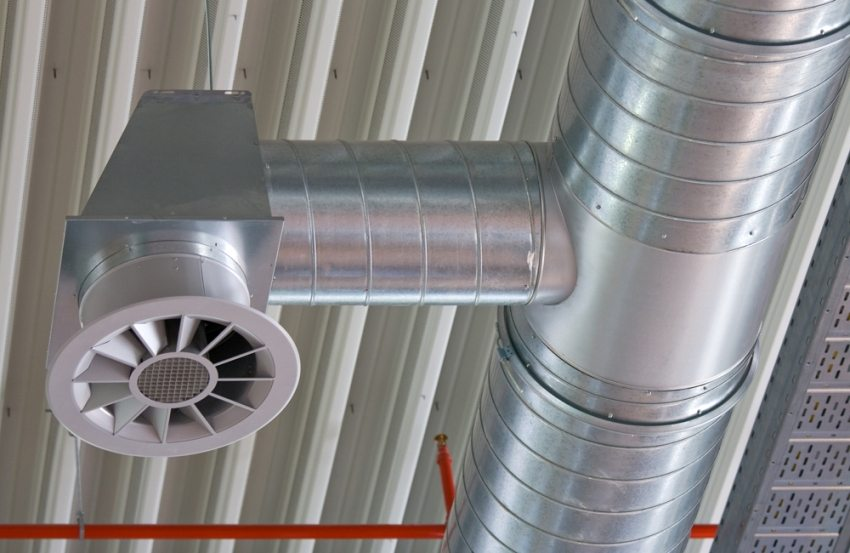 Воздуховод из металлических оцинкованных труб