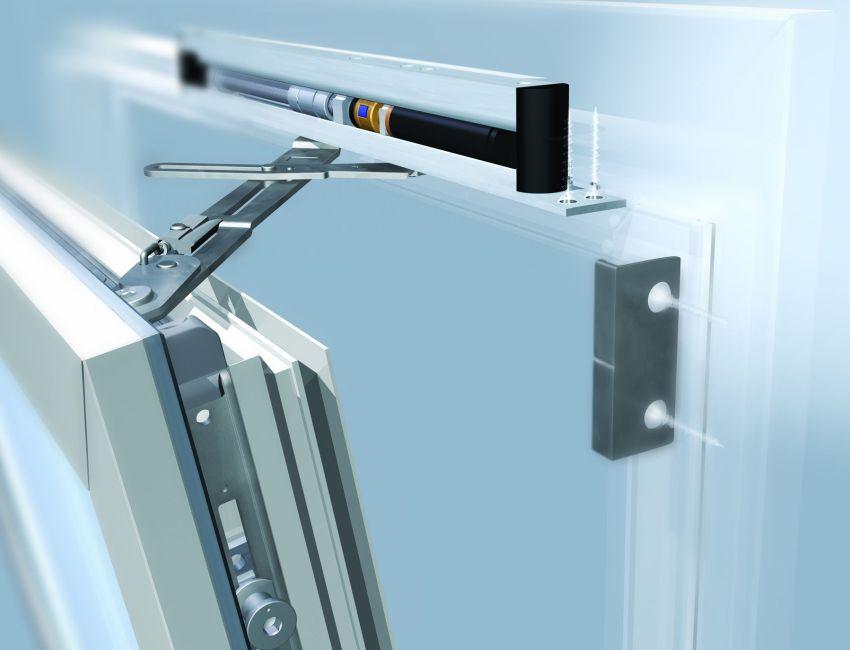 Клапан приточной вентиляции, установленный на металлопластиковое окно
