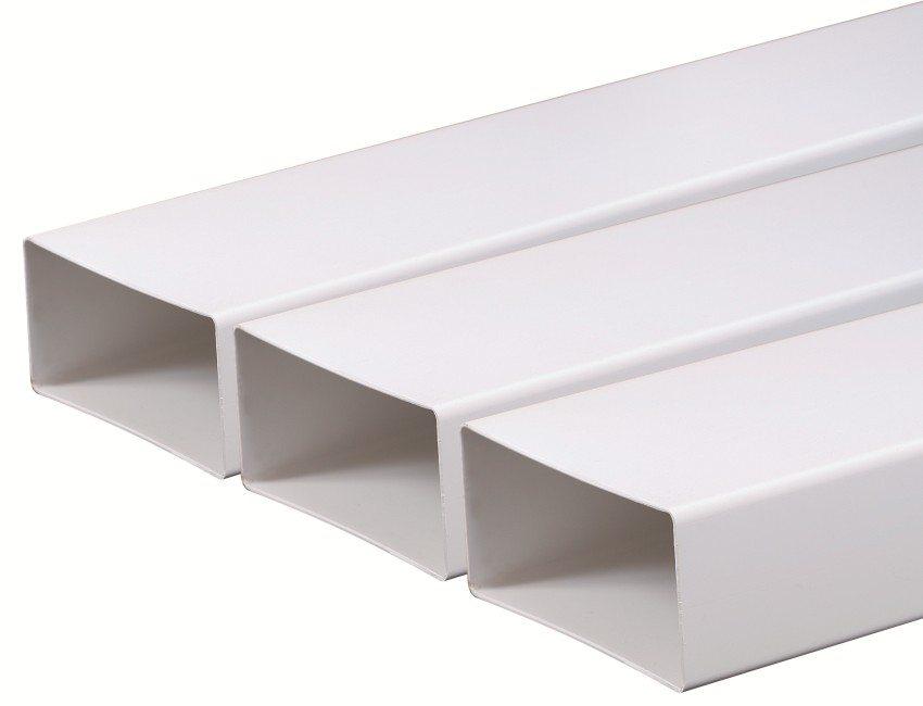 Прямоугольные плоские ПВХ-трубы для обустройства воздуховодов
