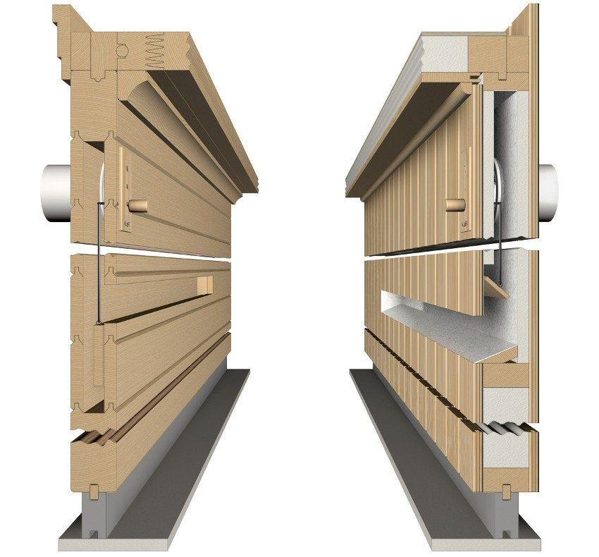 Расположение вентиляционных каналов внутри стен бани