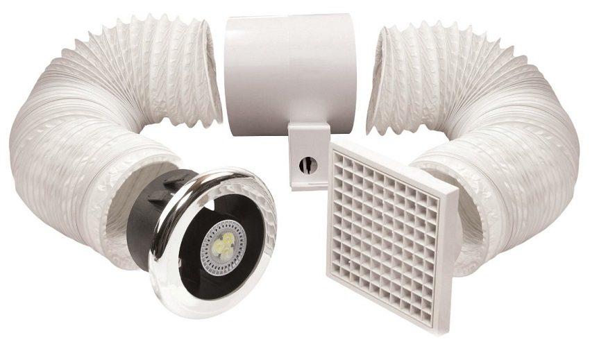 Вентиляторы для вытяжки в ванной комнате подбираются исходя из объема обслуживаемых помещений