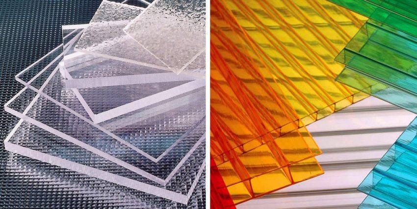 Листы поликарбоната хорошо поддаются раскрою, их легко можно согнуть до нужной формы, они прочны и стойки к деформациям