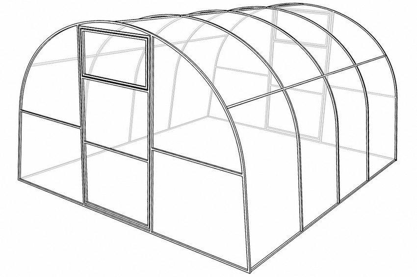 Проект каркаса для строительства арочной теплицы
