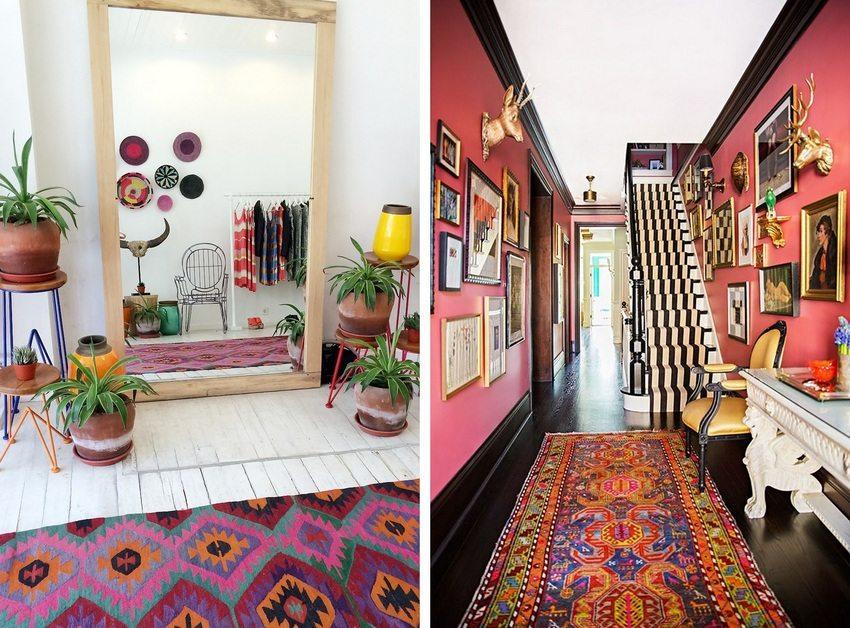 Яркие краски в современном интерьере прихожей