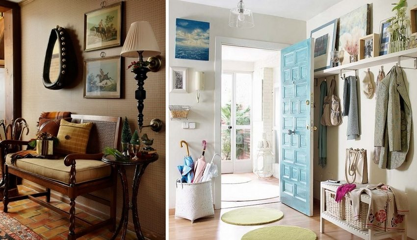 Подставка или корзина для зонтов разнообразит интерьер прихожей в частном доме