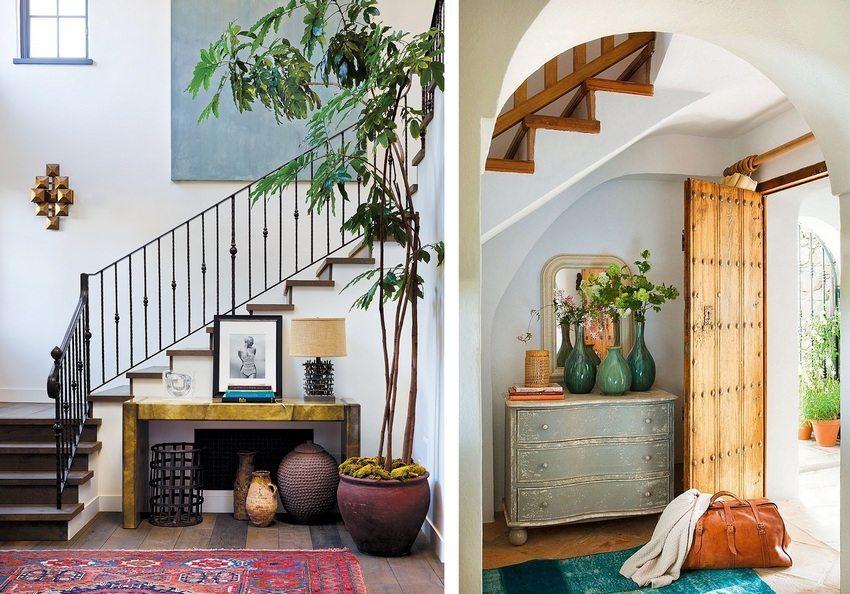Яркие ковры и другие интересные элементы декора помогут в создании уникального интерьера