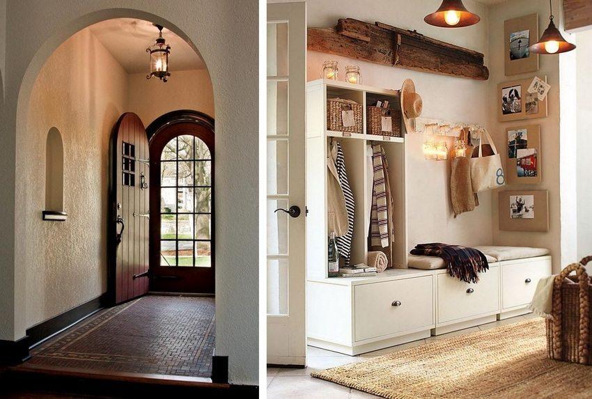 Различные варианты оформления интерьера прихожей в частном доме