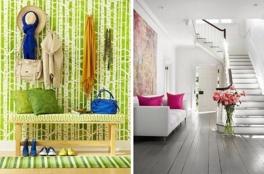 Яркие краски в дизайне прихожей будут радовать глаз и улучшать настроение