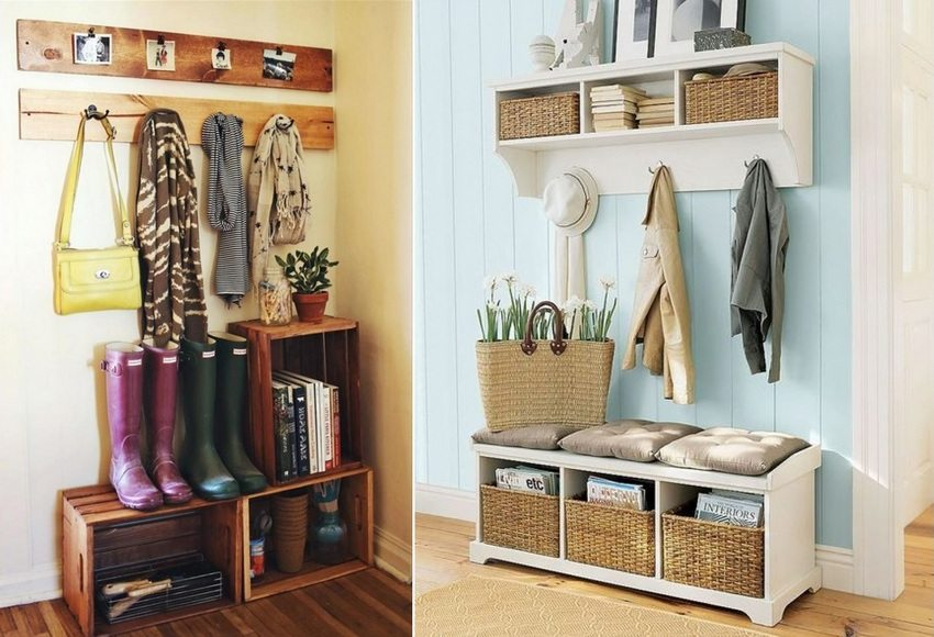 Свежим решением для малогабаритной квартиры станет интерьер прихожей, оформленный в стиле прованс