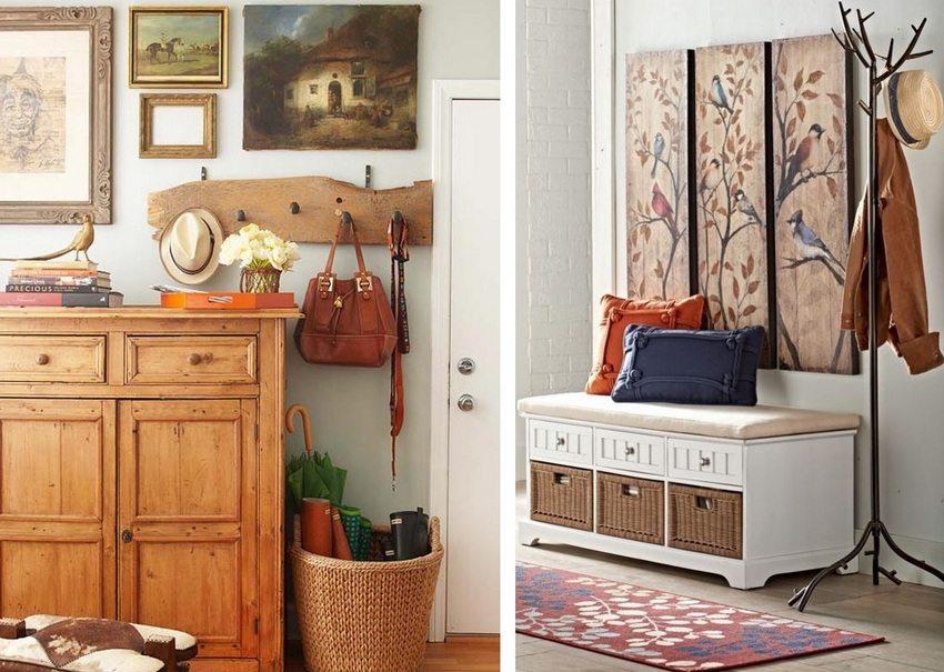 Различные элементы декора сделают прихожую атмосферной и привнесут уют