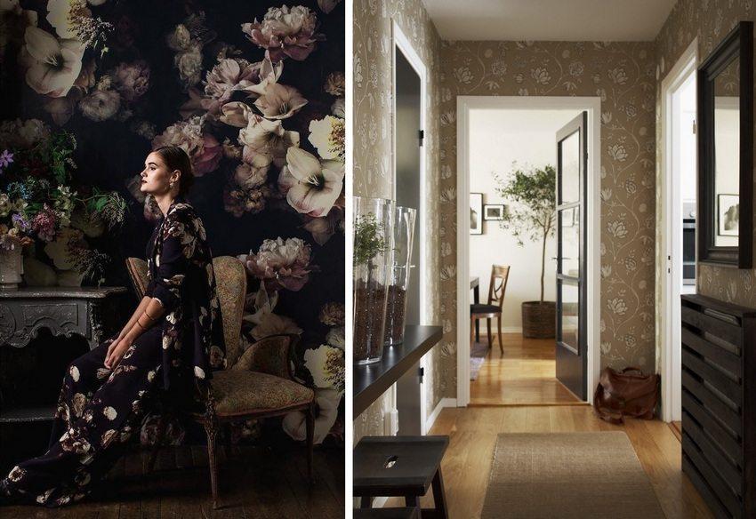 Обои в прихожей должны гармонично вписываться в общий интерьер квартиры
