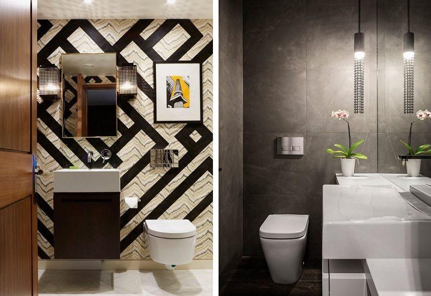 Продуманное освещение - важный момент в оформлении маленького туалета