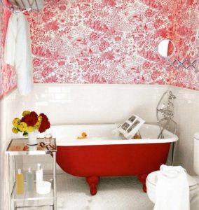 Хорошо использовать в оформлении ванной контрастные цвета