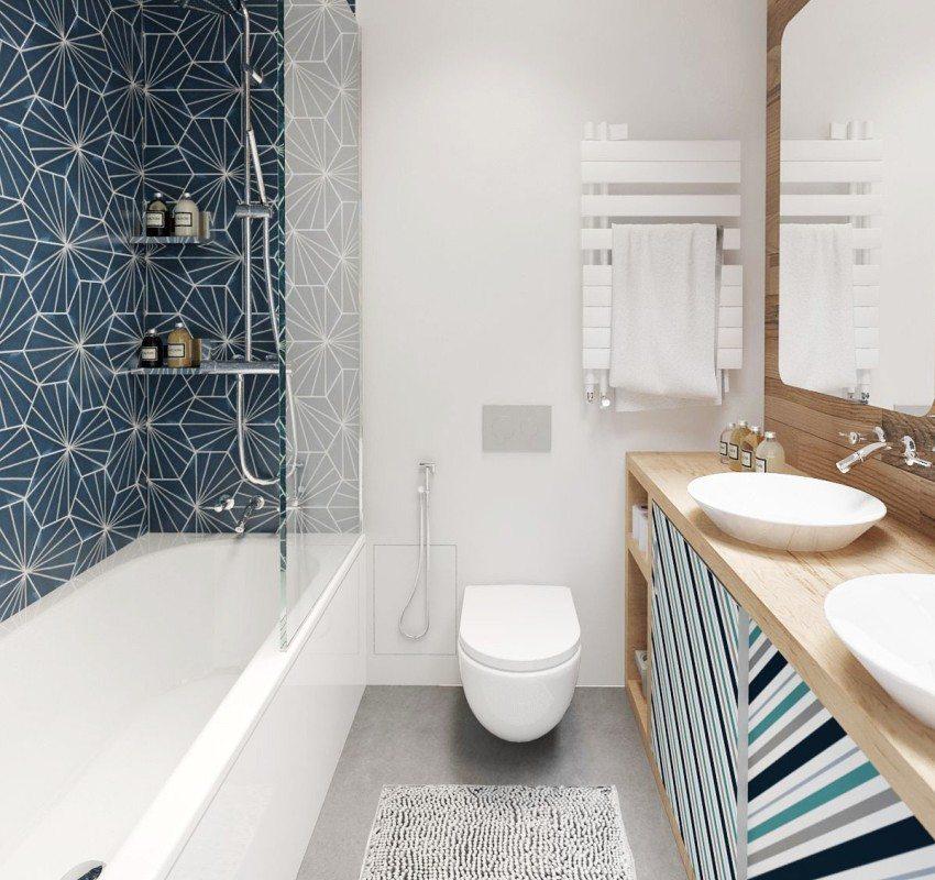 Рядом с унитазом можно разместить гигиенический душ