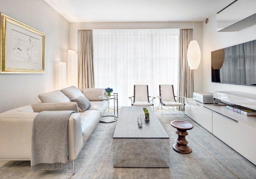 Дизайн зала в квартире: фото стильных интерьерных решений