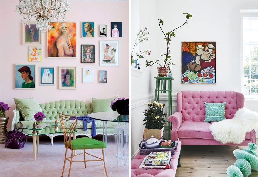 Элементы стиля поп-арт в оформлении зала