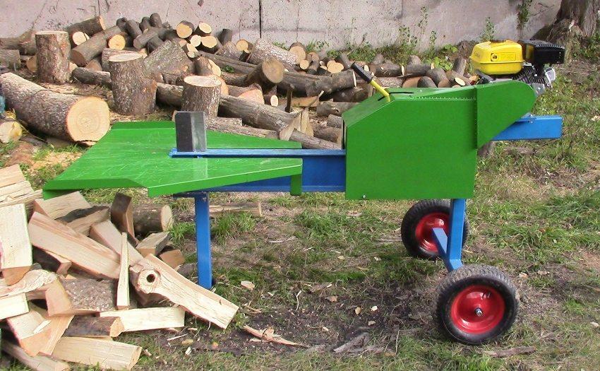 Электрический реечный дровокол, сделанный своими руками