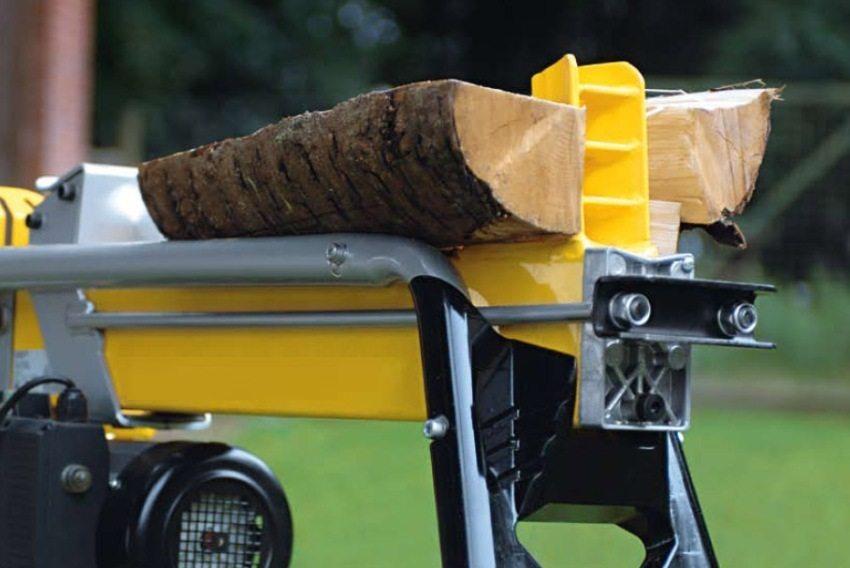 Принцип раскалывания бревна гидравлическим дровоколом