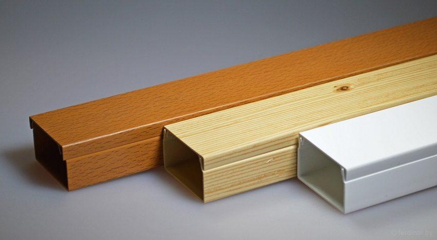 Кабель-каналы для обустройства открытой разводки можно подобрать под цвет отделки помещения