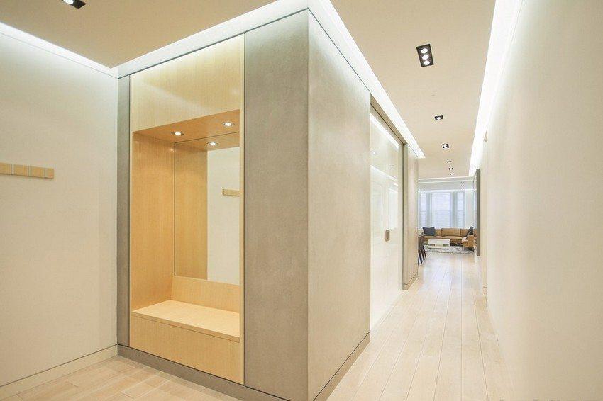 Для оформления парящего потолка могут применяться различные по мощности, форме и цвету осветительные приборы
