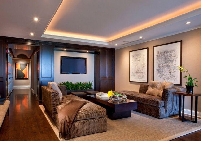 Парящие натяжные потолки отлично подойдут для ценителей оригинального дизайна