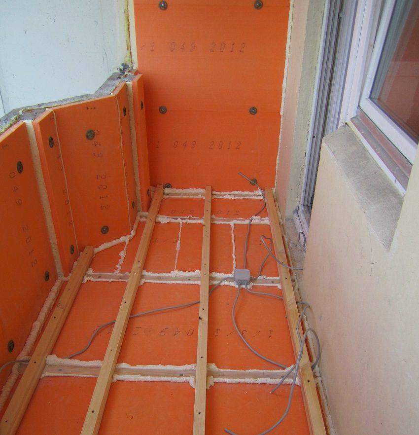 Утепление стен и пола балкона экструдированным пенополистиролом