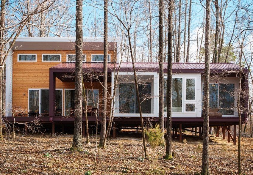 Каркасный дом с финишной отделкой современными строительными материалами