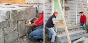 Строительство крыльца из бетона, камня и дерева своими руками