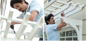 Деревянный козырек - одно из самых популярных решений при строительстве