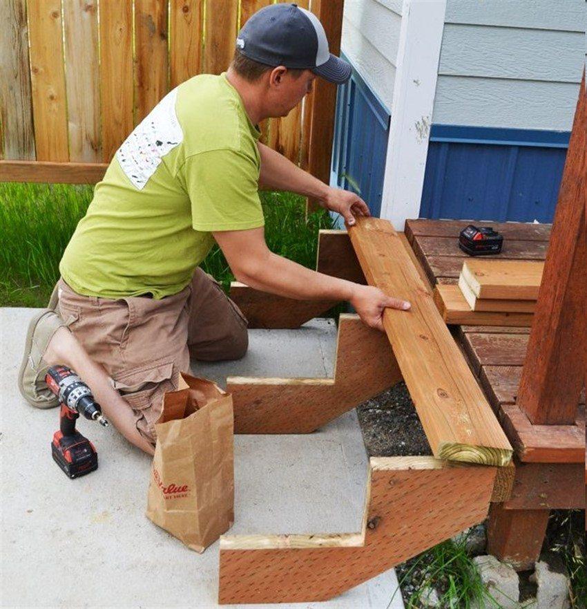 При постройке лестницы очень важно правильно рассчитать ширину проступи