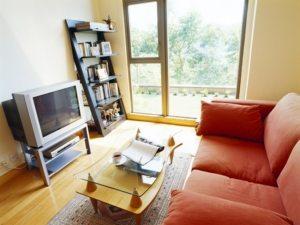 В качестве имитации дерева в дизайне зала может быть использован ламинат