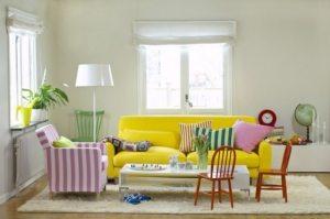 В дизайне зала бежевый цвет использован в качестве основы