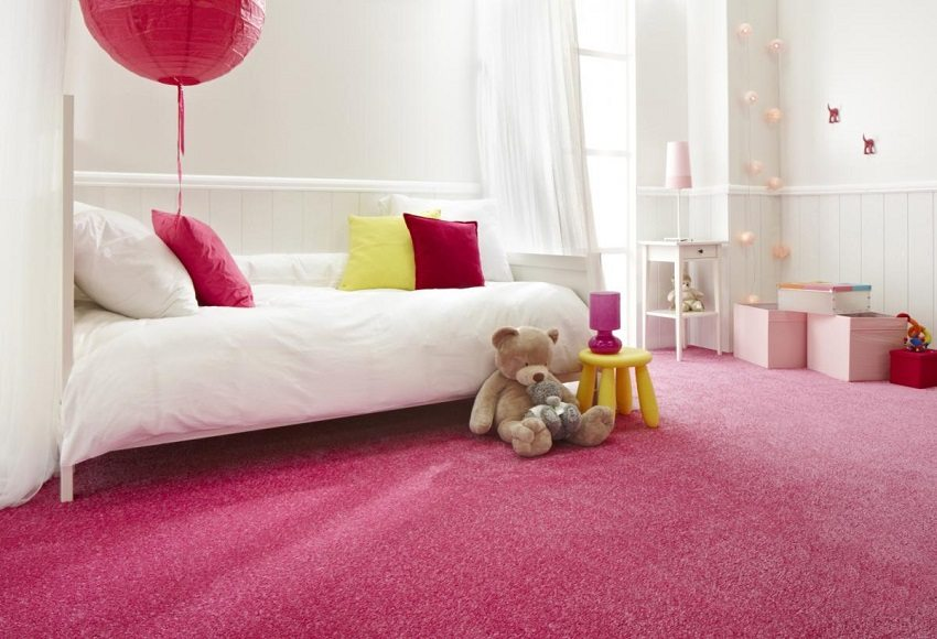 Soft carpet will make your child comfortable on the floor