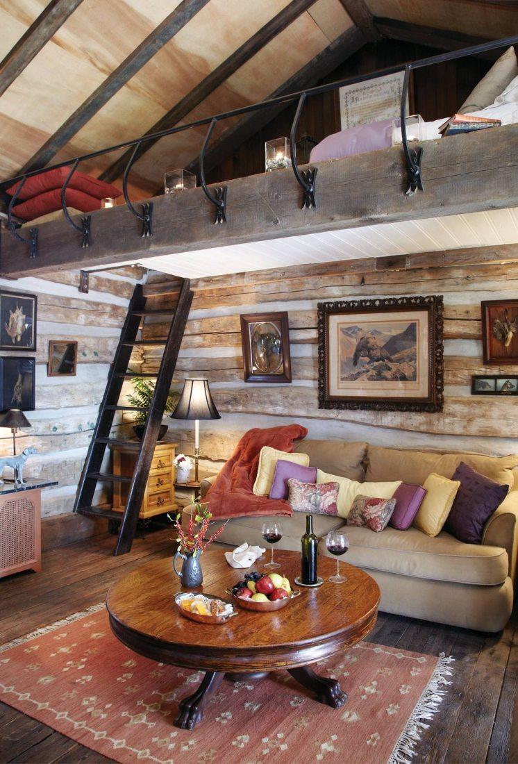 Пример обустройства внутреннего пространства небольшого дачного домика