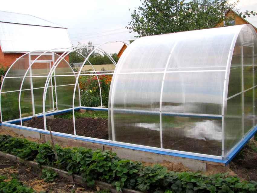 Поликарбонат отлично переносит существенные температурные колебания, обладает хорошей теплоизоляцией и защищает растения от ультрафиолетового излучения